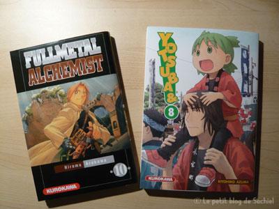 Yotsuba T.8 et Full Metal Alchimist T.10